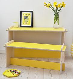 Small design, børnemøbler, børnebord og Børnebænk