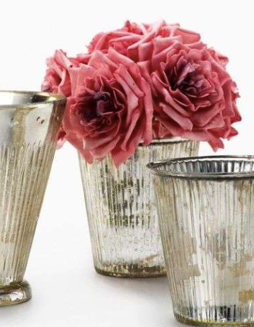 The Barnsley is a sweet replica of a Mint Julep glass and is the perfect vase for a small arrangement.