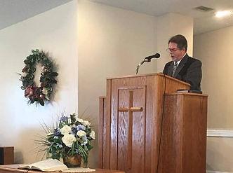 Pastor Greeacre Preaching