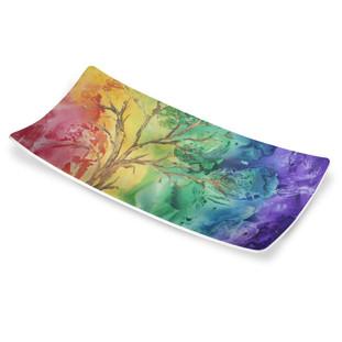 Into the Rainbow Seder Dish
