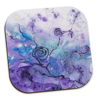 Purple Spiral Coasters
