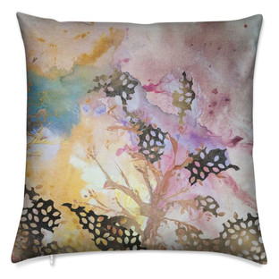 Forest Light Tree Tops Cushion