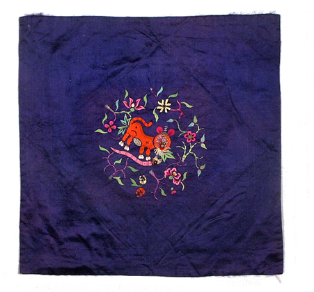 Antique Embroidered Silk Patch