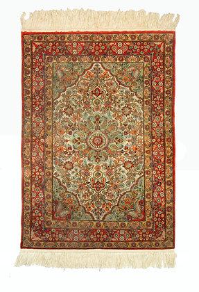 Hereke Turkish Silk Prayer Rug