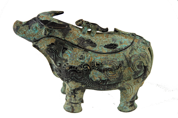 Incense Burner in the Form of a Water Buffalo