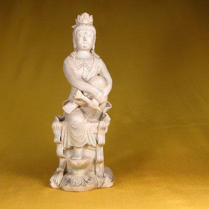 Sitting Female Porcelain statue