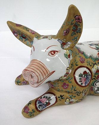 Antique Porcelain Japanese Pig