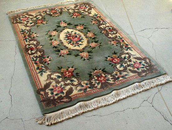 Chinese Floral Wool Rug
