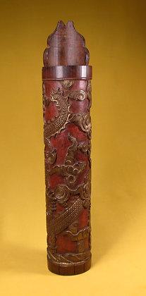 Carved Bamboo Incense Holder