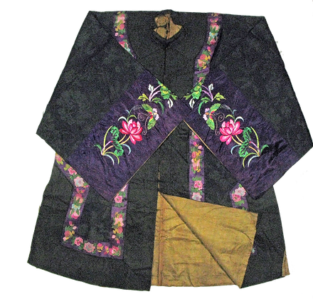 Antique Embroidered Silk Robe