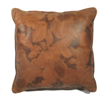 Autumn Leaves Genuine Leather Pillow