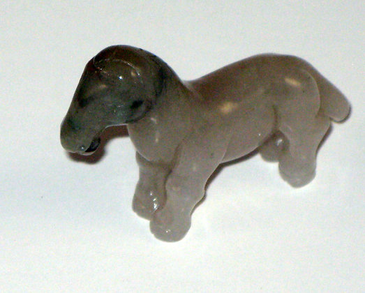 Small Carved Nephrite Jade Figure of a Horse