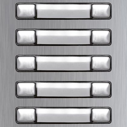 Golmar Nexa INOX Double button modules
