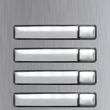 Golmar Nexa INOX single button modules