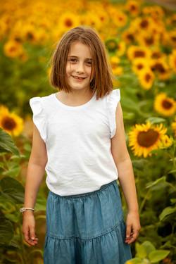 Sunflower photo shoot