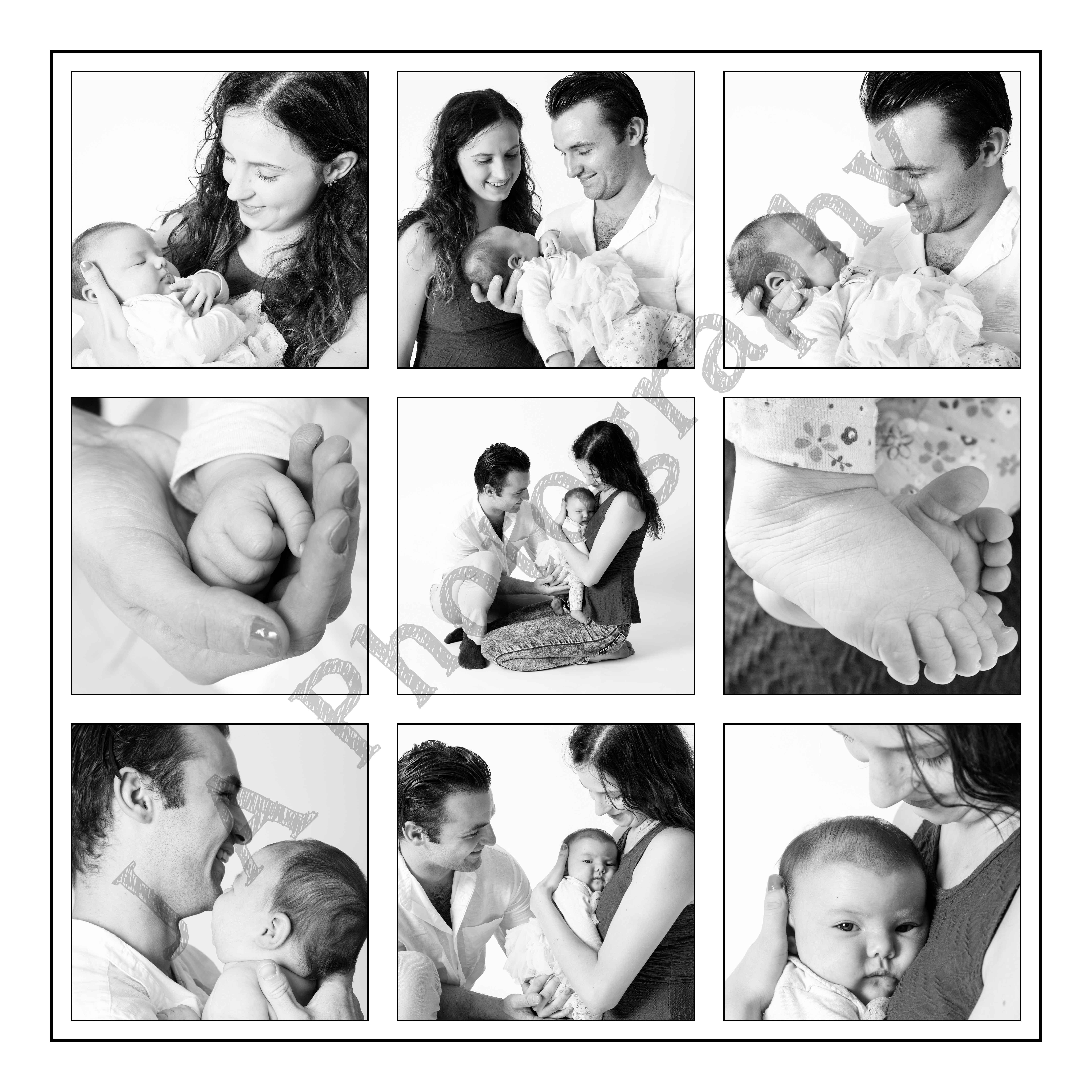 baby family photoshoot