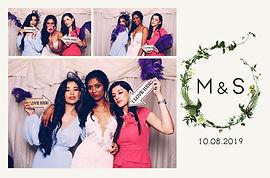Custom photo booth print design, Wedding photobooth hire