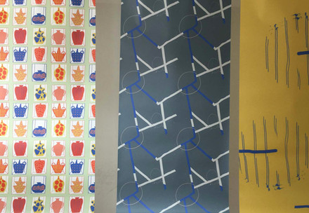 Wall paper designs made in collaboration with the architectural brand RMF studio.