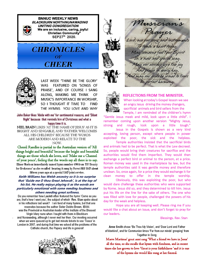BNNUC Weekly newssheet Chronicles of Che