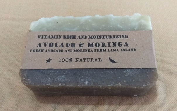 Avocado moringa natural soap