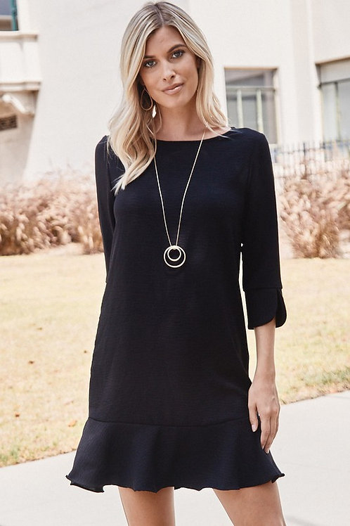 All On You Black Woven Dress