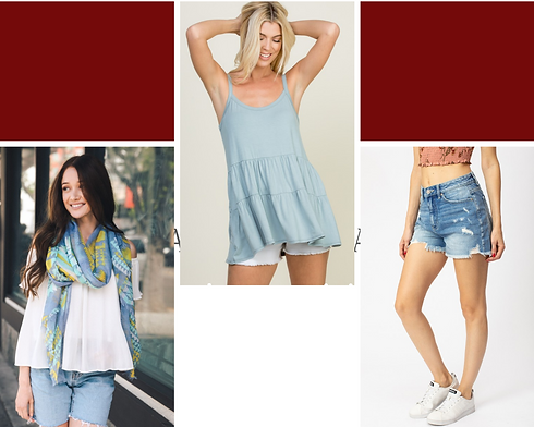 Aqua and White Grid Look of the Day Phot