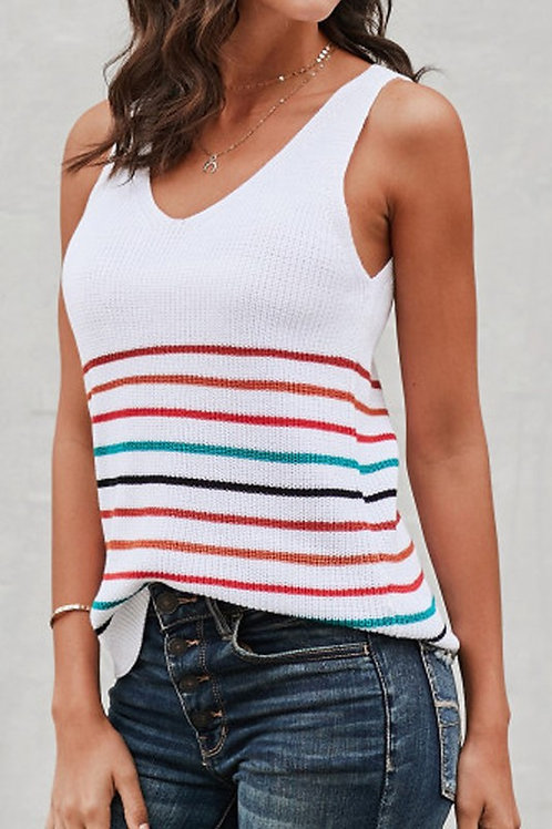 Stripped Knit Top
