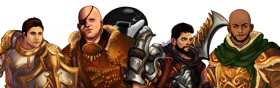 Ilustration of the Everyone-Games adventurers