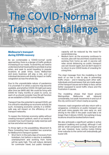 The COVID-Normal Transport Challenge