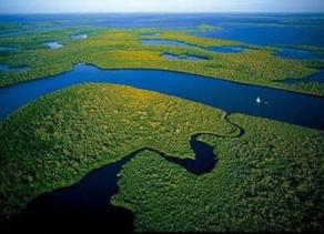 A singeleza da nascente que dá vida ao    maior rio do planeta.