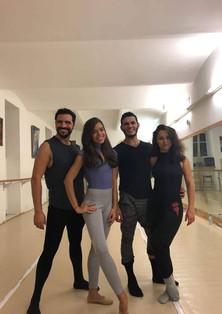Bailarinos: Patrícia Brandão, Hannah Vacano, Alexandre Cardoso e Reynaldo Sabato