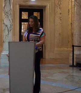 A Presidente da Sociedade Papagaio e Diretora do Festival do Brasil em Viena, Vanessa Noronha Tölle, fez a abertura oficial do evento