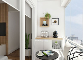 Varanda pequena pode se transformar em um espaço confortável e de multiúso.