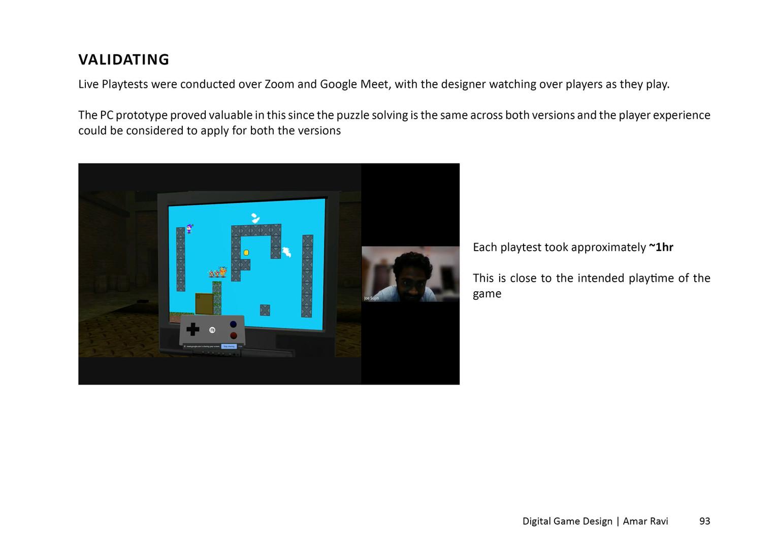 Remote Playtesting through Zoom