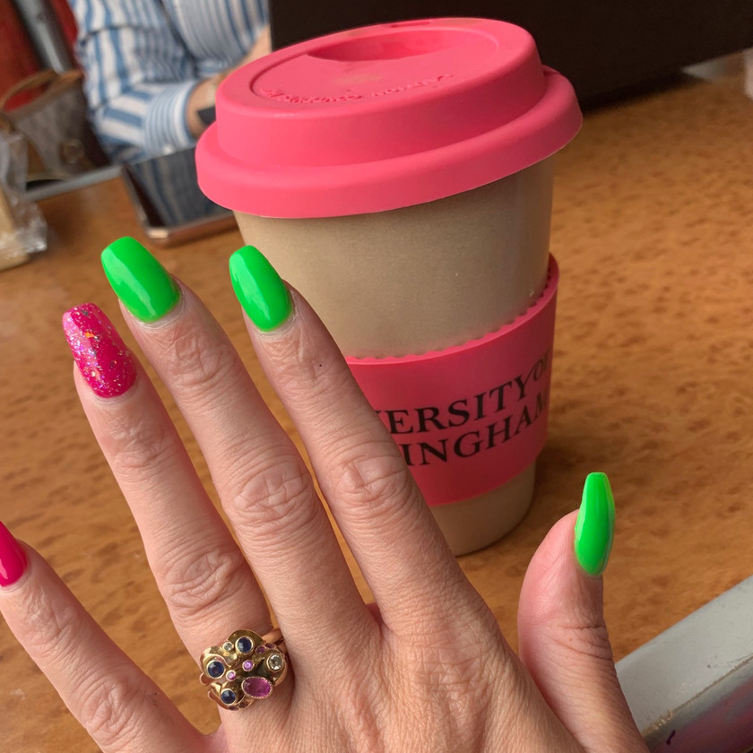 Nails sorted, honey tea for the throat...