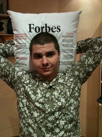 """Подушка """"Forbes"""""""
