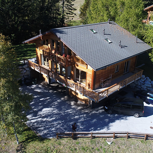 The chalets in Summer