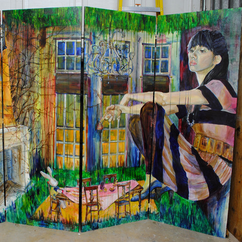 4.Alice in Wonderland Syndrome, acrylic on wood, 5ft. x 8ft. 2007.jpg