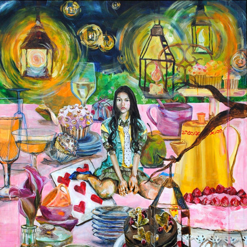 1. Midnight Tea Party, acrylic on canvas, 54in. 60in. 2007.jpg