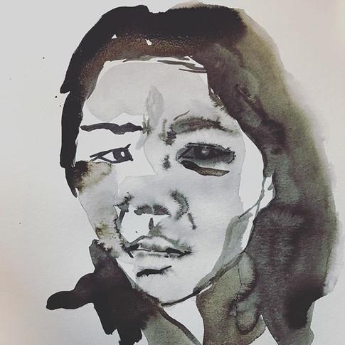 #selfportrait #sumiink