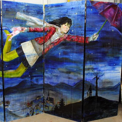 5.Little Bunny's Dream, acrylic on wood, 5ft. x 8ft., 2007.jpg