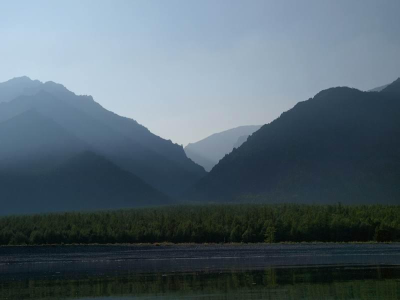 Вид на Байкальский хребет