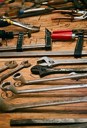 Tools on a workbenc