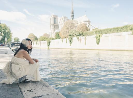 パリの定番スポット巡り。emeth / wedding dress shooting