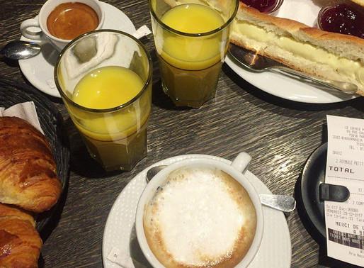 Petit-Déjeuner très parisien / パリのカフェで朝ごはん
