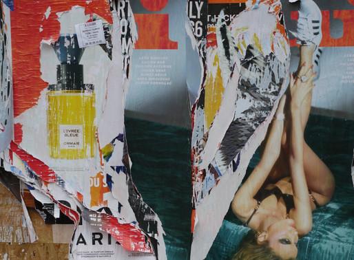 パリのビリビリ広告