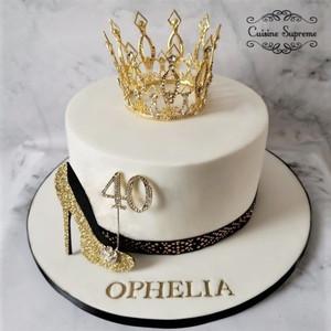 Vanilla Sponge Milestone Cake