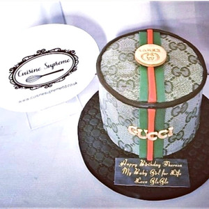 6inch Rum Fruit Cake Gucci Design