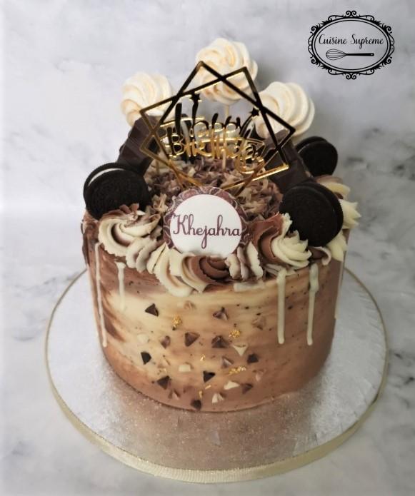 Vanilla Sponge Chocolate Drip Cake