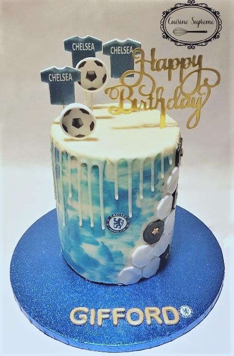 Chelsea FC Sponge Cake